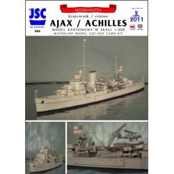 Brytyjski krążownik AJAX...