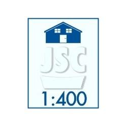 Buildings, scale 1:400